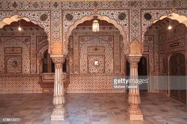 india, rajasthan, bikaner, junagahr fort - mughal empire stock photos and pictures