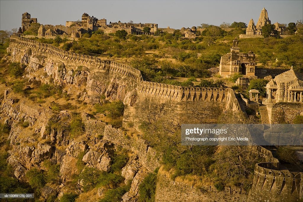 India, Rajasthan, Chittorgarh Fort : Stockfoto