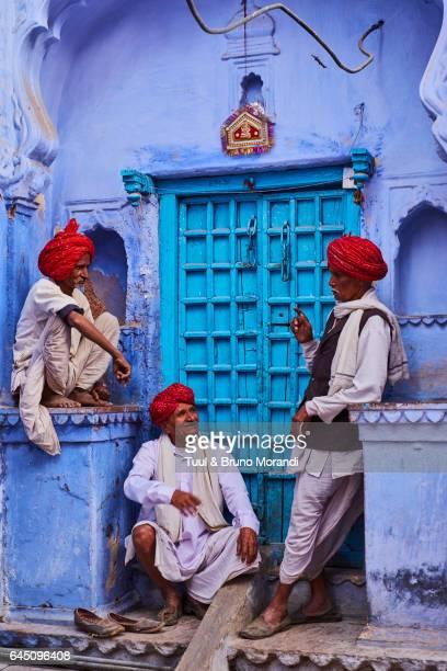 india, rajasthan, jodhpur, the blue city - jodhpur stock pictures, royalty-free photos & images