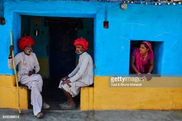 india, rajasthan, rabari village - village stock pictures, royalty-free photos & images
