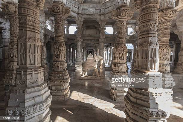 india, rajasthan, ranakpur jain temple - ranakpur temple stock photos and pictures