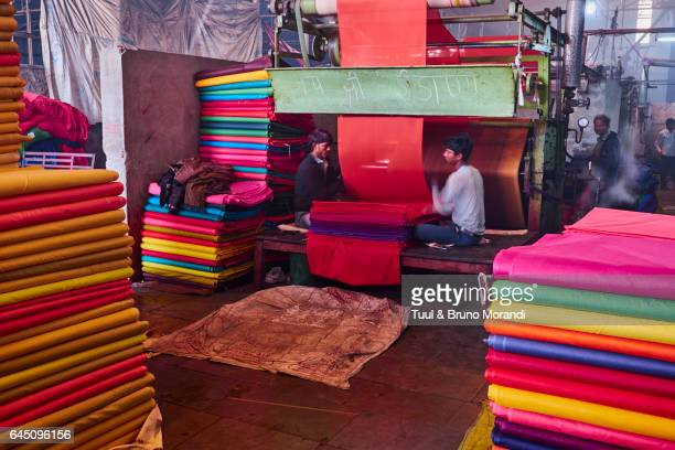 India, Rajasthan, Sari Factory