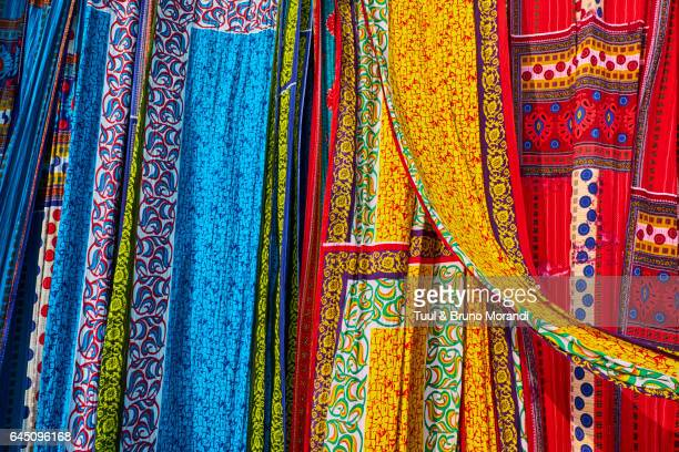india, rajasthan, sari factory - textile industry stock pictures, royalty-free photos & images