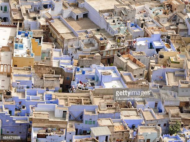 India Rajasthan State Jodhpur Seen From The Ramparts Of Meherangarh Fort