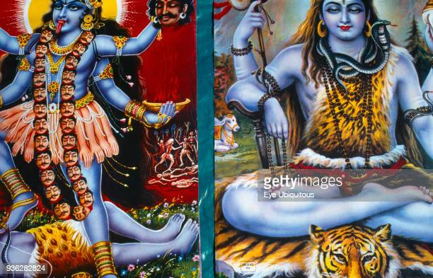 India Religion Hindu Colourful Poster Of Krishna
