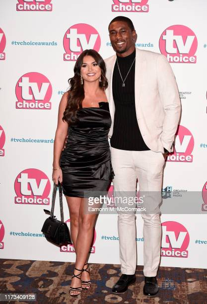India Reynolds and Ovie Soko attend The TV Choice Awards 2019 at Hilton Park Lane on September 09 2019 in London England