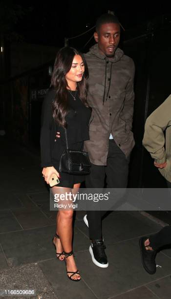 India Reynolds and Ovie Soko seen on a night out at The Ivy Soho Brasserie on August 06 2019 in London England