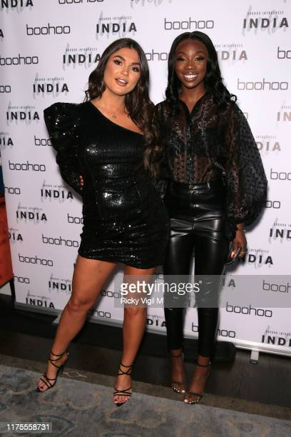 India Reynolds seen attending the India x Boohoo private dinner at Bagatelle on September 18 2019 in London England