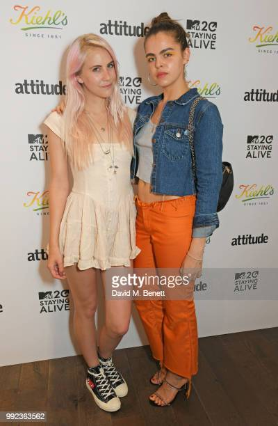 India Rose James and Bee Beardsworth attend Kiehl's 'We Are Proud' party to celebrate Pride on July 5 2018 in London England