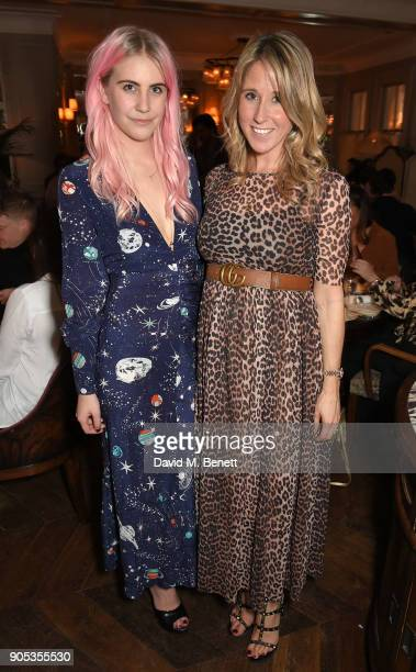 India Rose James and Fawn Lawson attend Kettner's Townhouse preopening dinner hosted by Fawn and India Rose James on January 15 2018 in London England