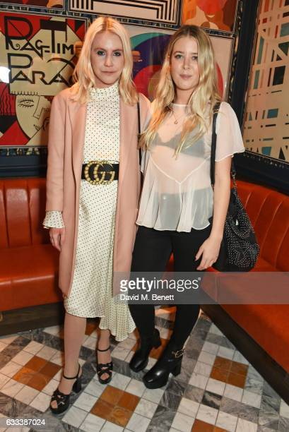 India Rose James and Gracie Egan attend the InStyle EE Rising Star Party ahead of the EE BAFTA Awards at The Ivy Soho Brasserie on February 1 2017 in...