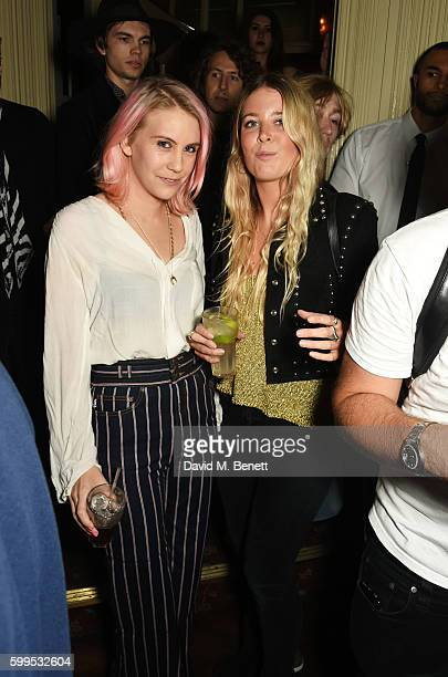 India Rose James and Gracie Egan attend the launch of 'Issues' a new album by SSHH in aid of Teenage Cancer Trust at The Box on September 5 2016 in...