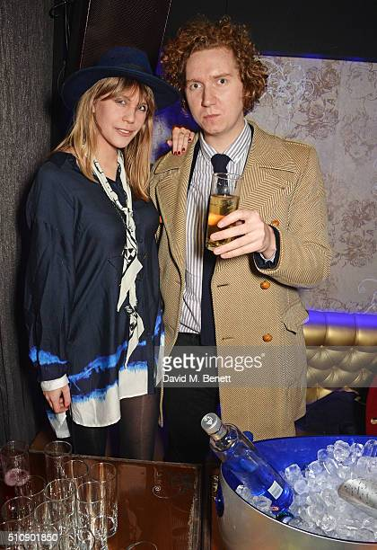 India Rose James and Hugh Harris attend the Ciroc NME Awards 2016 after party hosted by Fran Cutler at The Cuckoo Club on February 17 2016 in London...