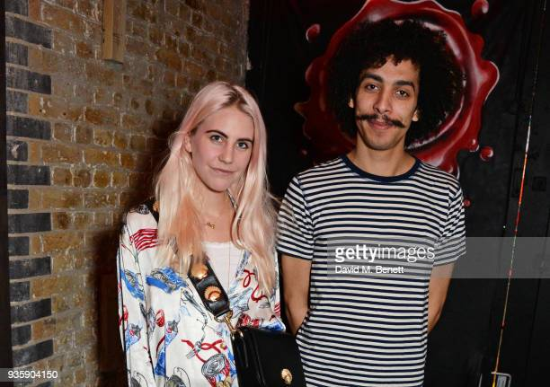 India Rose James and Twiggy Garcia attend The Perfumer's Story evening of Scentsory delights hosted by Aures London Azzi Glasser at Sensorium on...