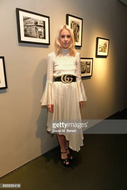 India Rose James attends a private view of 'A Paul Raymond Show' an exhibition curated by Alex Wood and India Rose James at Soho Revue on February 1...