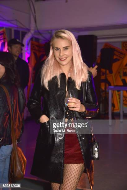 India Rose James attends a private view of artist Chemical X's new exhibition 'CX300' at The Vinyl Factory on September 28 2017 in London England