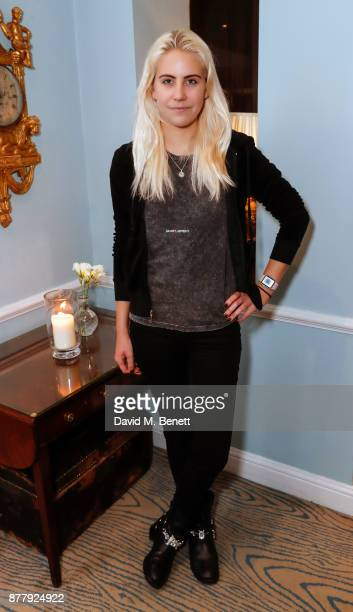 India Rose James attends an exclusive preview of the Aurum Grey SS18 collection at Dukes London on November 23 2017 in London England