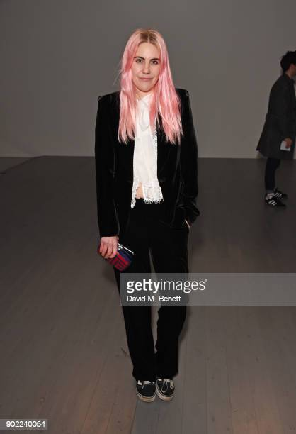 India Rose James attends the Alex Mullins show during London Fashion Week Men's January 2018 at BFC Show Space on January 7, 2018 in London, England.