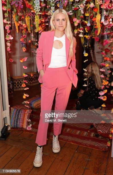 India Rose James attends the celebration hosted by Saloni Lodha of Phoolon Ki Holi the Indian festival of colours played with flowers on April 4 2019...