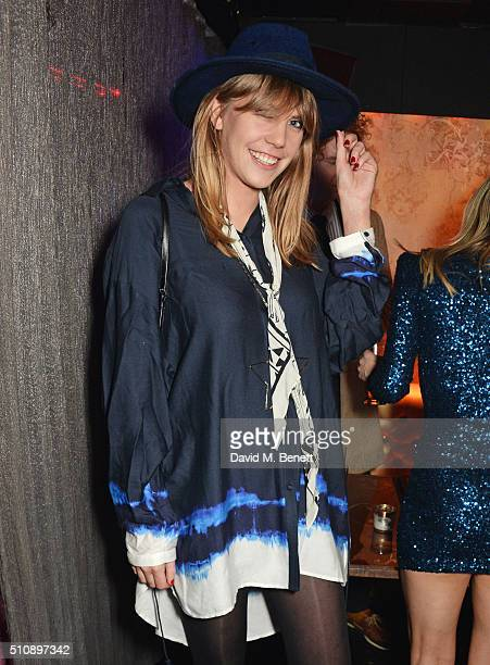 India Rose James attends the Ciroc NME Awards 2016 after party hosted by Fran Cutler at The Cuckoo Club on February 17 2016 in London England