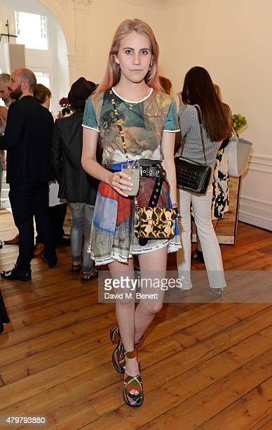 India Rose James attends the Vivienne Westwood X The Cambridge Satchel Company collaboration launch party at One Horse Guards on July 7 2015 in...