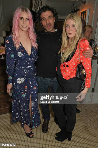 India Rose James Derrick Santini and Gracie Egan attend Kettner's Townhouse preopening dinner hosted by Fawn and India Rose James on January 15 2018...