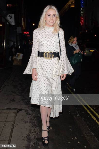 India Rose James sighting outside the Soho Revue on February 1 2017 in London England