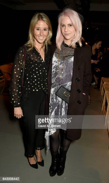 India Rose James wearing Burberry attends the Burberry February 2017 Show during London Fashion Week February 2017 at Makers House on February 20...