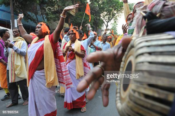 India ruling political party Bharatiya Janata Party organised rallies and colourful processions to celebrate Ram Navami in various parts of the state...