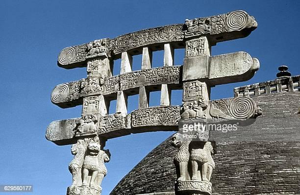 India Sanchi Great Stupa7550 BCSouth gate architraves