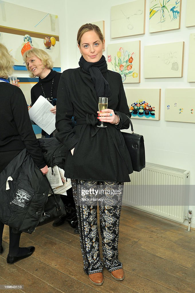 India Saunton attends the private view of Martha Parsey: If I Was 6 at Eleven on January 17, 2013 in London, England.