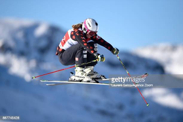 India Sherret of Canada during qualifications during the FIS Freestyle Ski World Cup Men's and Women's Ski Cross on December 7 2017 in Val Thorens...