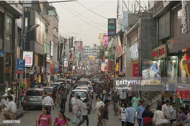 india shopping center - bangalore stock pictures, royalty-free photos & images