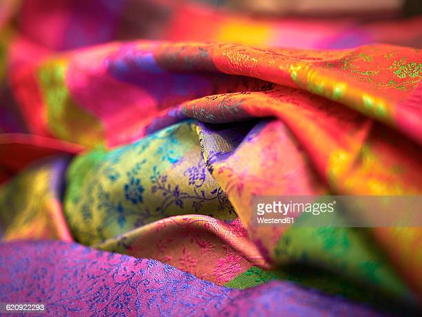 india, silk cloth - silk stock pictures, royalty-free photos & images