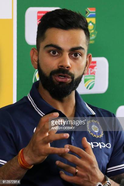 India team Captain, Virat Kohli speaks during a press conference on the eve of the first One Day International against South Africa, at the Sahara...