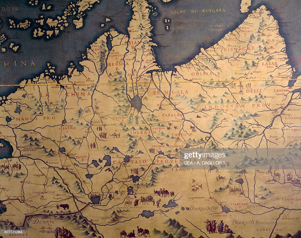 India far east and china sea map pictures getty images india the far east and china sea map made in 1540 by gumiabroncs Choice Image