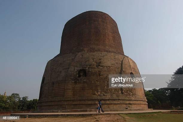 India Uttar Pradesh Sarnath The Dhamekh Stupak