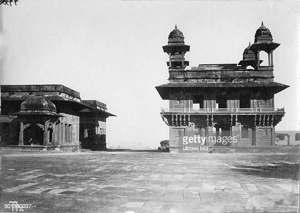 India, Uttar Pradesh State: Fatehpur Sikri, Diwan-i-Khas . - probably in the 1910s