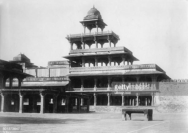 India Uttar Pradesh State,: Fatehpur Sikri, Panch Mahal. - probably in the 1910s