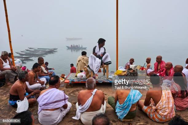 India, Varanasi (Benares), Ghats on the River Ganges
