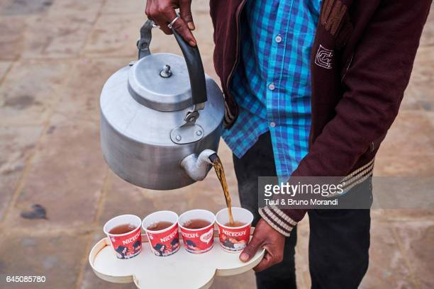India, Varanasi (Benares), tea time