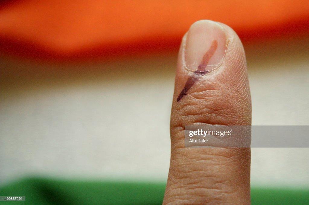 India Votes : Stock Photo