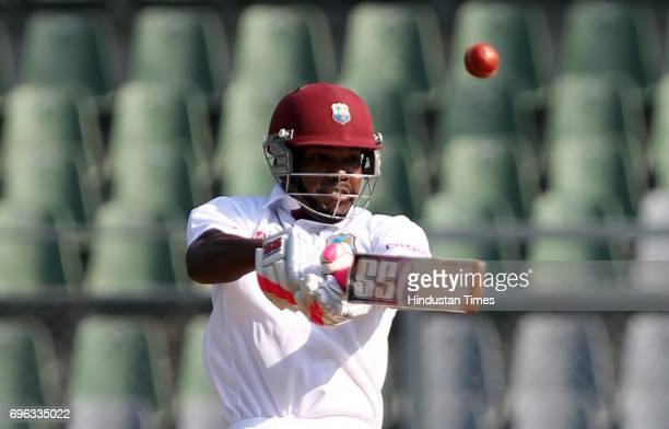 India vs West Indies third test West Indies batsman Darren Bravo bats during the second day of the third test match between India and West Indies at...