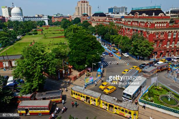 india, west bengal, kolkata, calcutta, bbd bagh, writers building - kolkata stock pictures, royalty-free photos & images