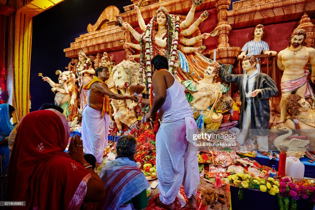 India, West Bengal, Kolkata, Calcutta, for Durga Puja festival more than 2000 Pandals are build