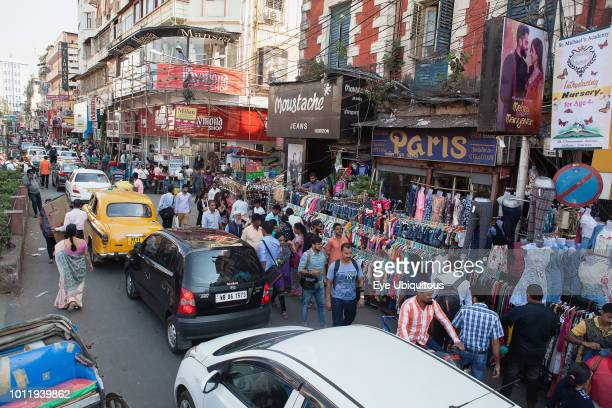 India West Bengal Kolkata Shops and market stalls in New Market