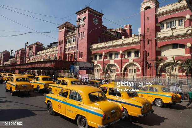 India West Bengal Kolkata Taxi rank in front of Howrah Railway Station