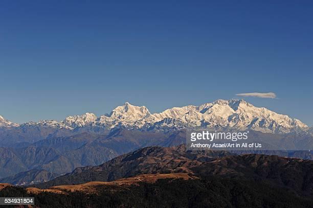 India West Bengal Singalila National Park Sandakfu view on snowcapped Kangchenjunga