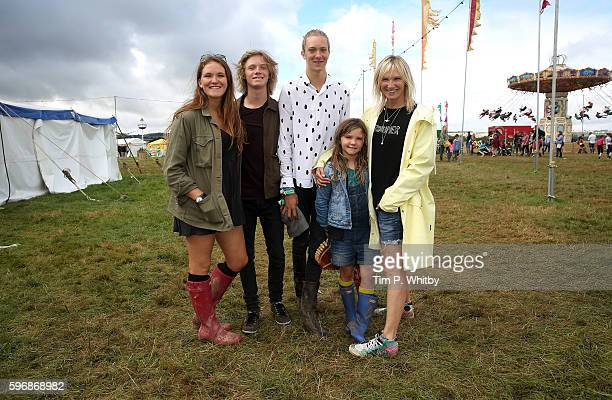 India WhileyMorton Casius WhileyMorton Jude WhileyMorton Coco Lux and Jo Whiley attend The Big Feastival at Alex James' Farm on August 28 2016 in...