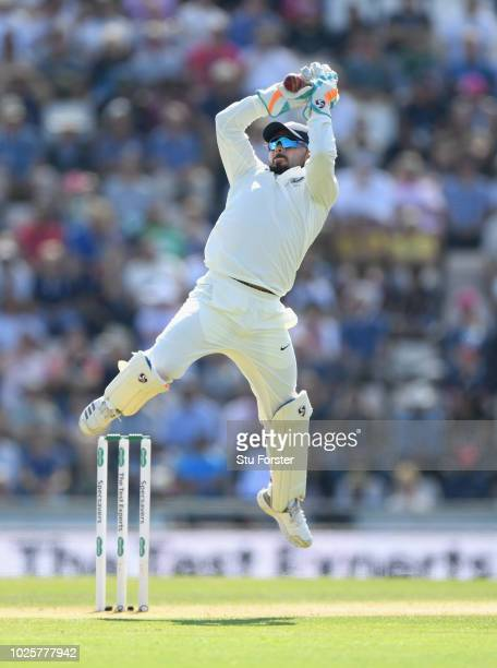India wicketkeeper Rishabh Pant in action during day three of the 4th Specsavers Test between England and India at The Ageas Bowl on September 1 2018...